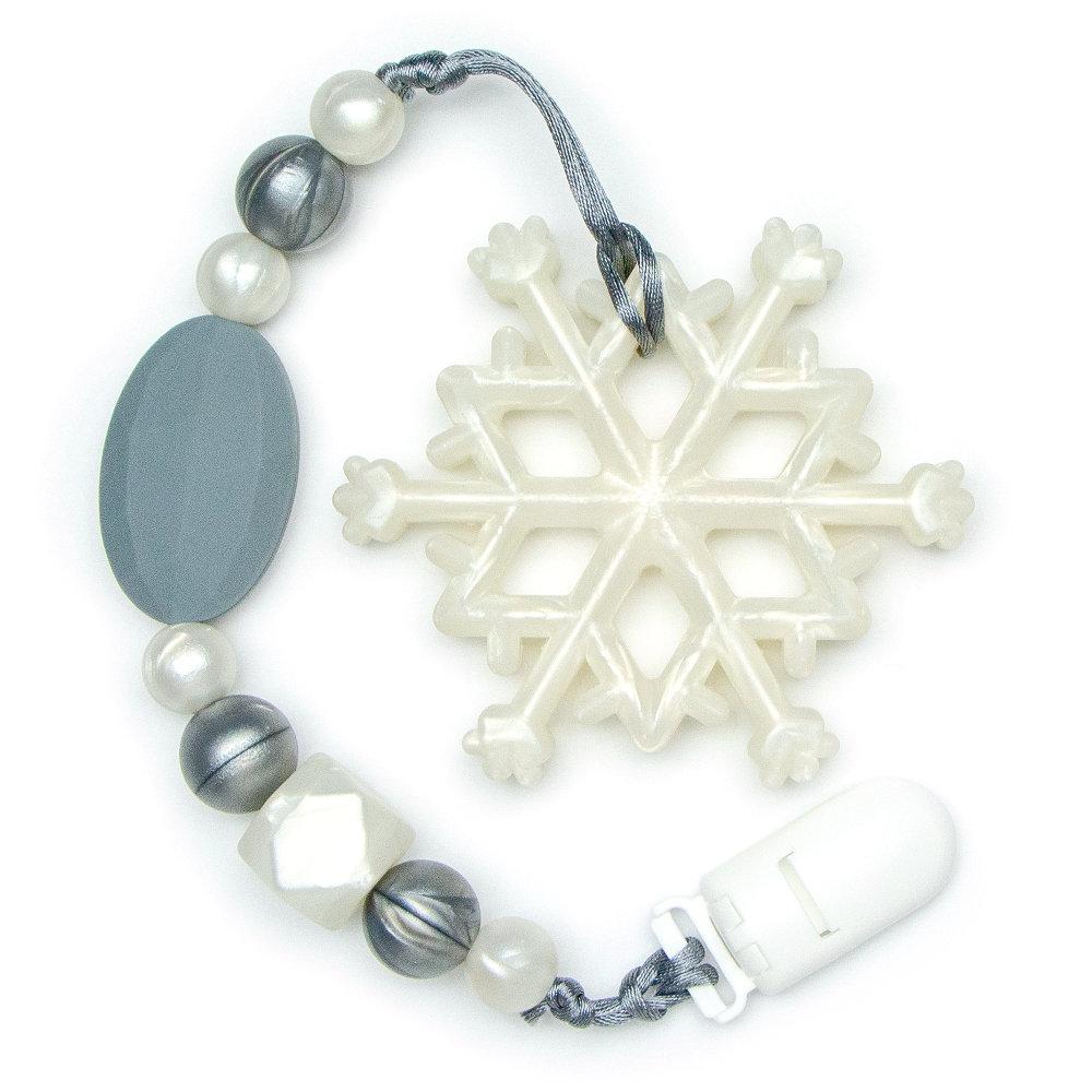 Teething Toys Snowflake - Silver