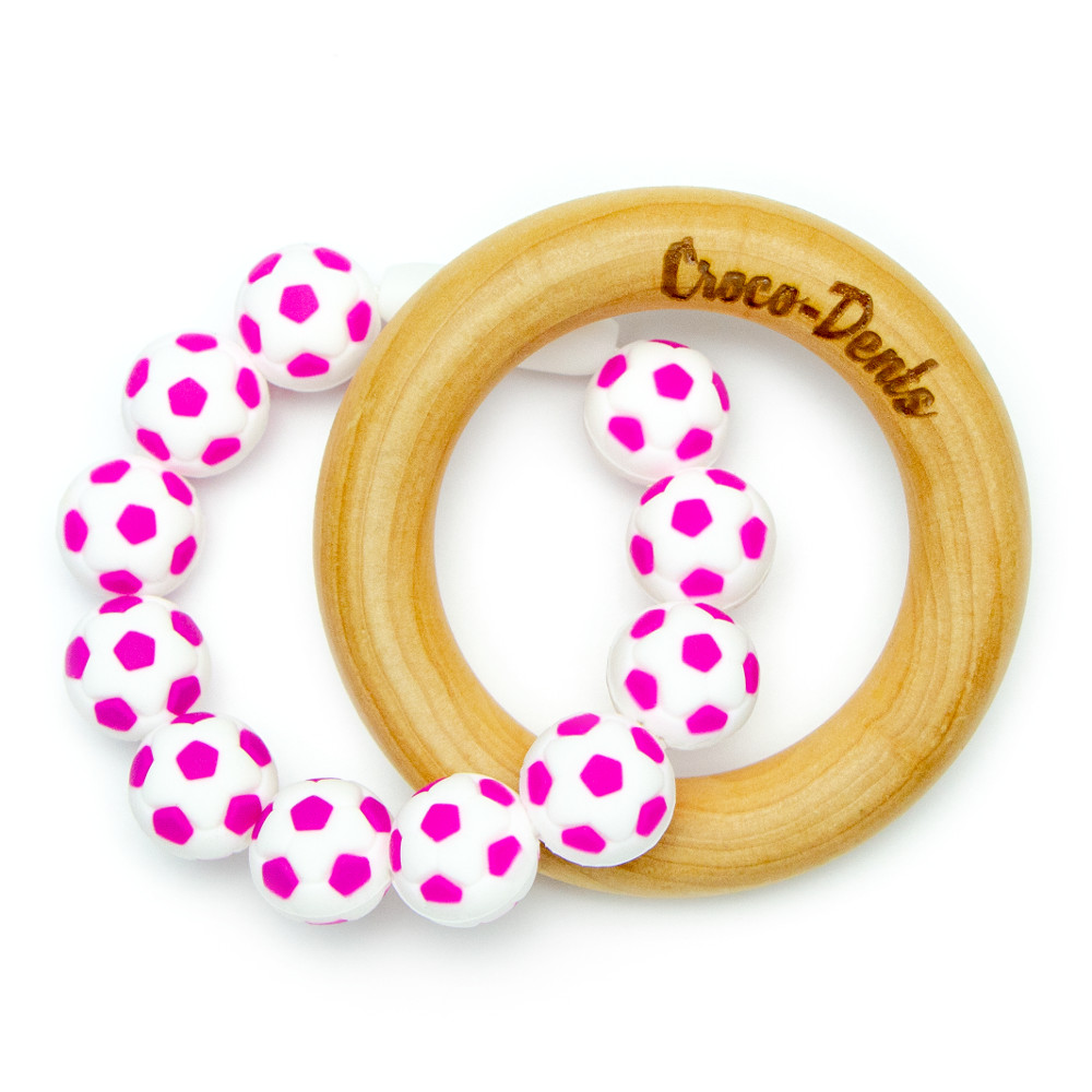 Wooden Teethers Wooden Balloon - Pink