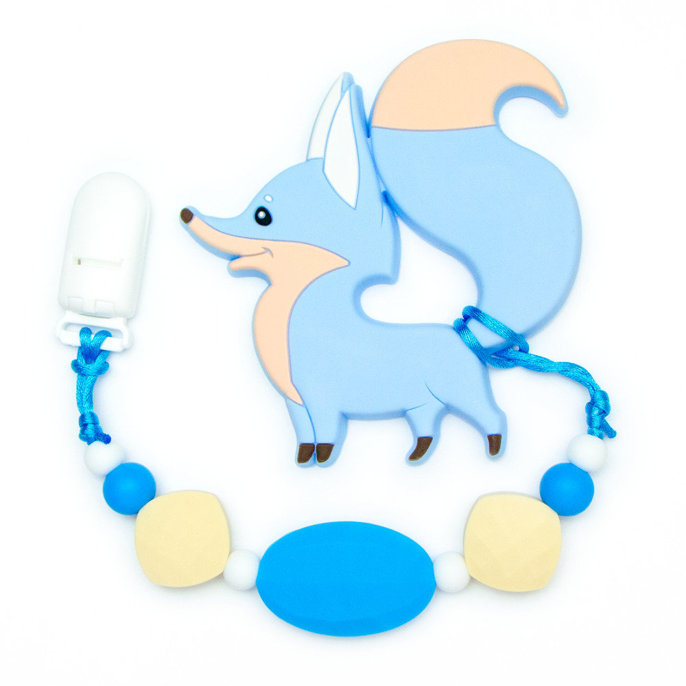 Teething Toys Fox - Blue