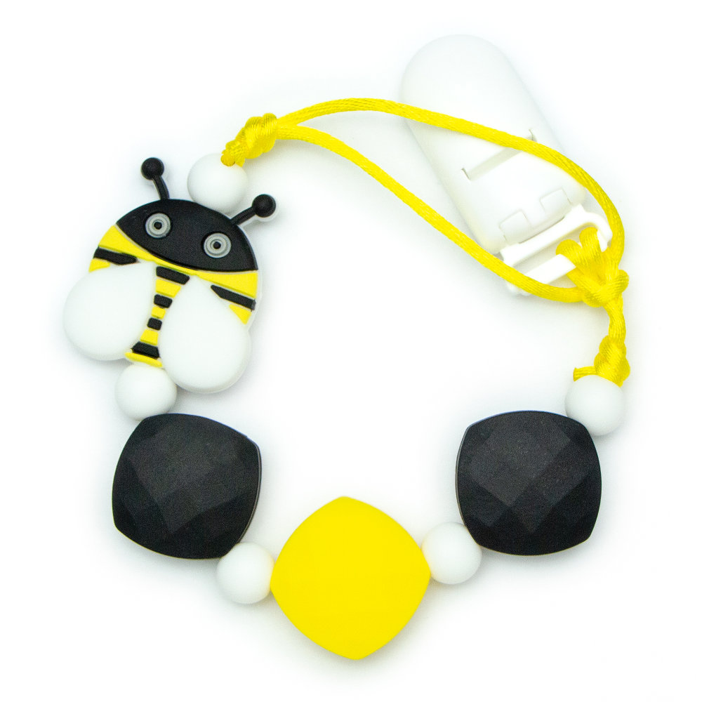 Pacifier Clips Bee - Black