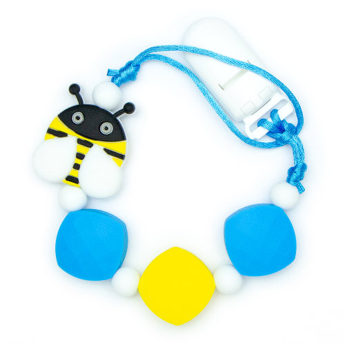 Pacifier Clips Bee - Blue