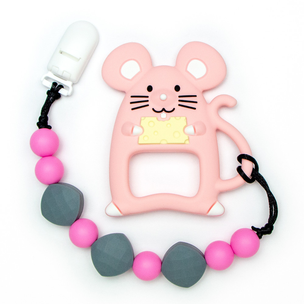 Teething Toys Mouse - Pink