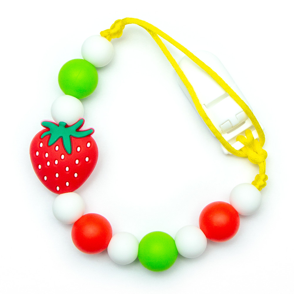 Pacifier Clips Strawberry - Red