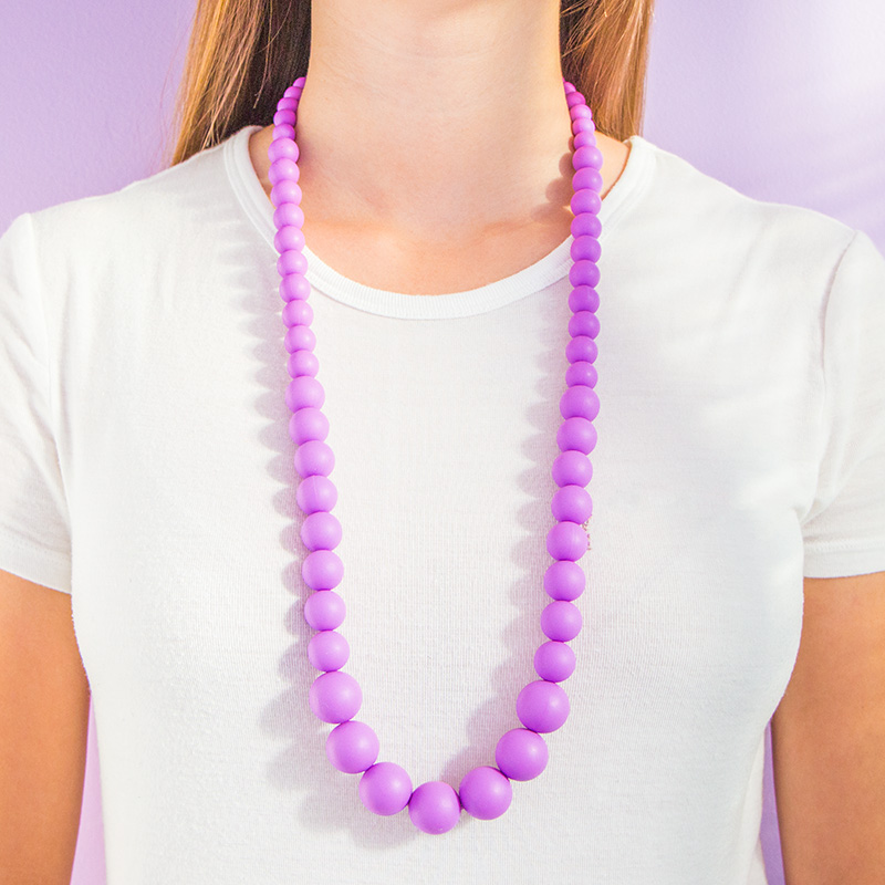Teething Necklaces Pearls of the Sea - Purple