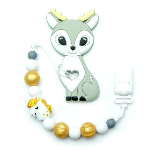 Teething Toys Deer - Grey