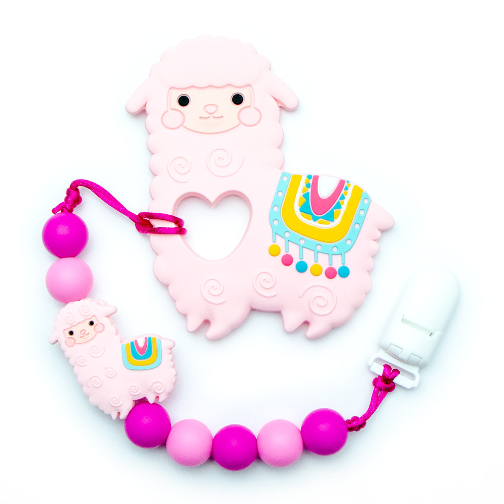 Teething Toys Alpaca - Pink