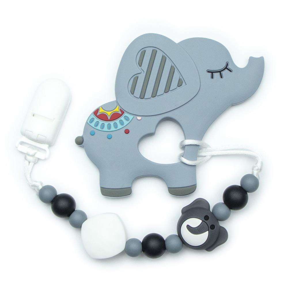 Teething Toys Elephant - Grey