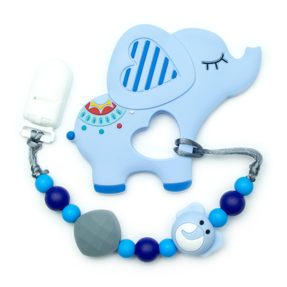 Teething Toys Elephant - Blue