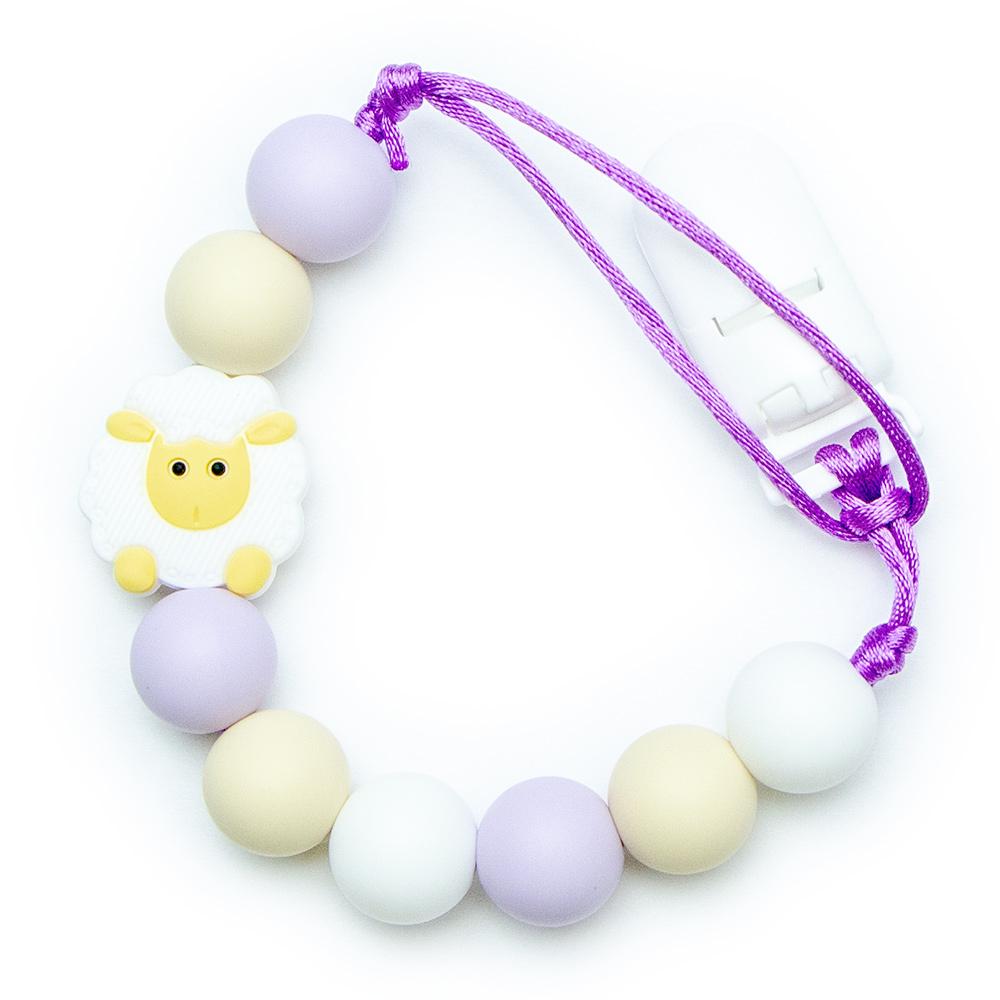 Pacifier Clips Little Sheep - Purple