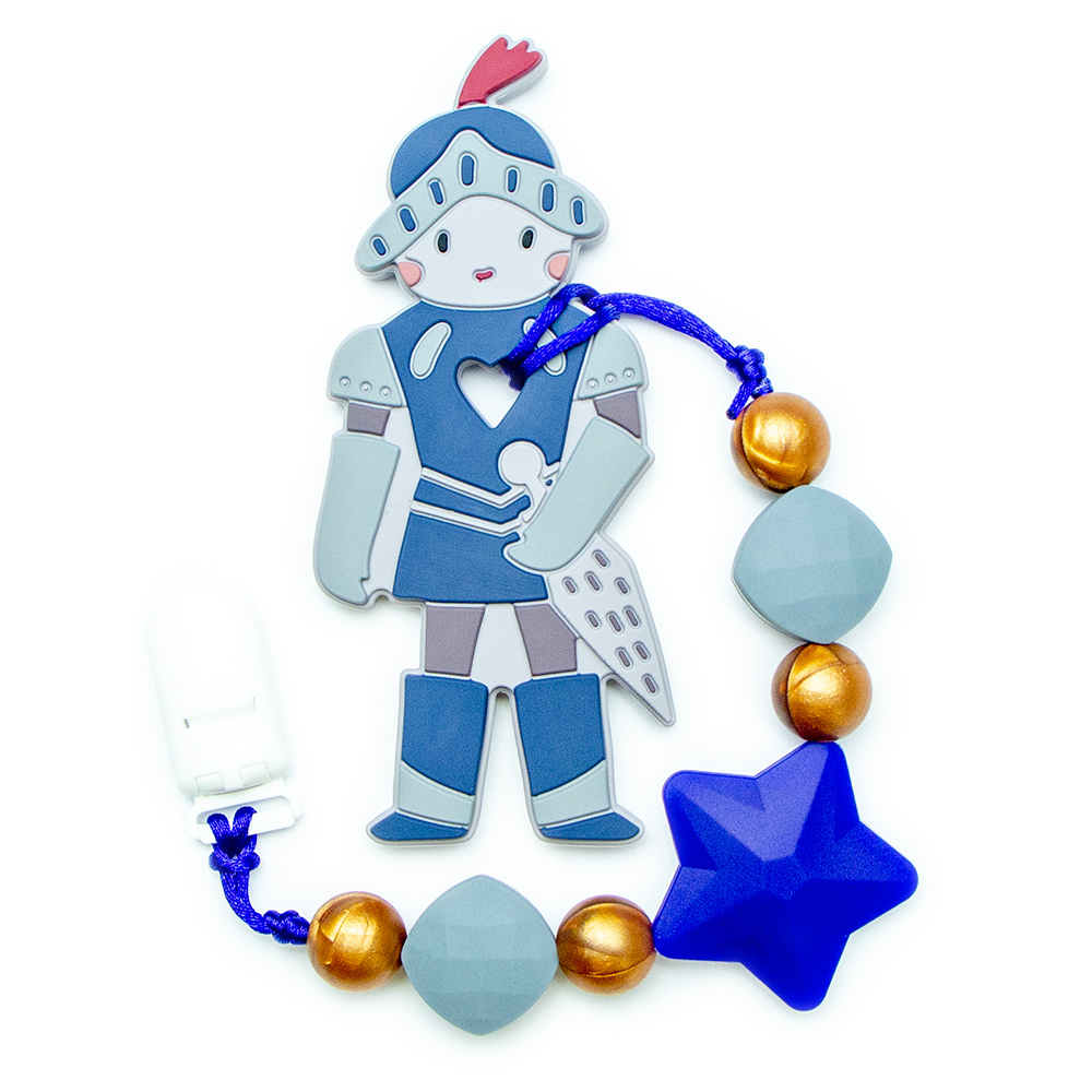 Teething Toys Knight - Navy