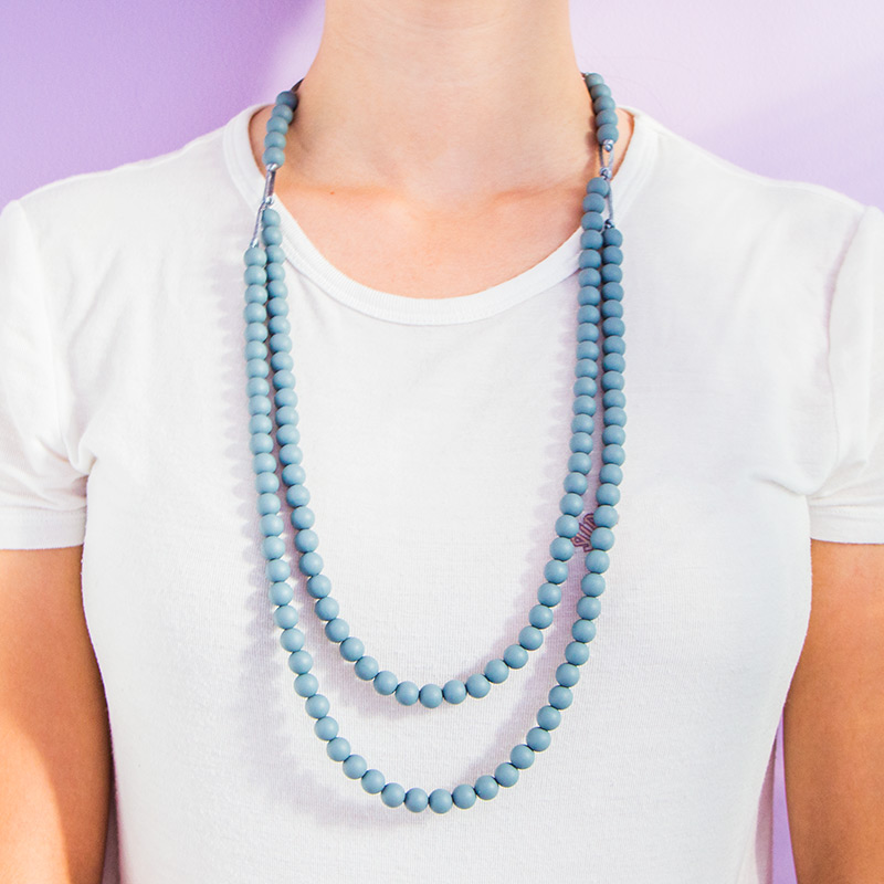 Teething Necklaces Infinity - Gray
